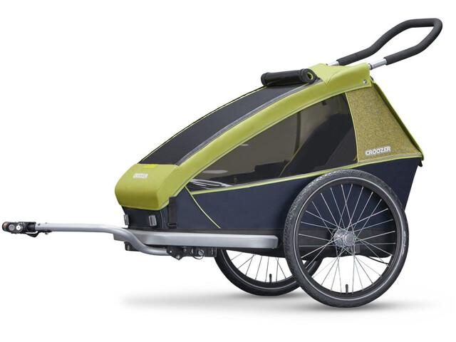 croozer kid for 1 bike trailer grey green at. Black Bedroom Furniture Sets. Home Design Ideas